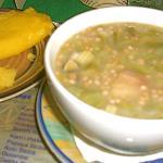 Seafood okra gumbo with funchi