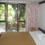 Room 20 with large windows facing garden