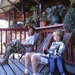 Selwyn and Steven enjoying a coke.