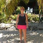 Mel Enjoying Sun, Sand and Sea
