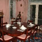 Guests' dining area