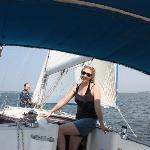 Enjoying the sailboat.