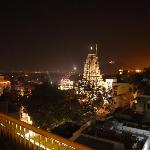 view from rooftop over the jagdish temple