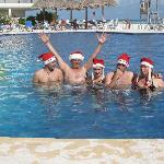 In the pool on Christmas day