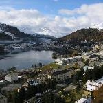 VIEW FROM OUR JUNIOR SUITE OF CARLTON HOTEL IN ST MORITZ