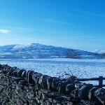 View from road 100m from hotel walking towards Hawes