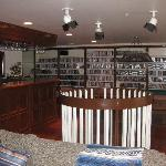 The bar and DVD collection