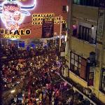 The celebration continues on Bui Vien (as viewed from the hotel)