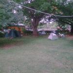 Shoestrings Vic Falls zona de campamento