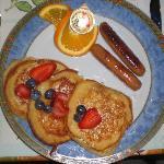 pancakes et bleuets....