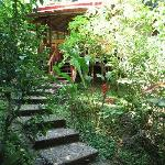 Steps leading to the smaller yoga studio
