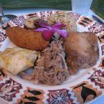 Luau Dinner Plate - Plenty to try!