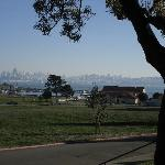 View of San Francisco from the rocking chairs on our front porch