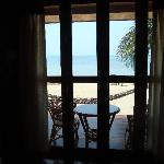 The lovely view from inside the front bungalow
