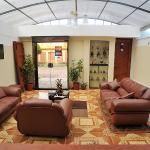 This is the lobby area, with comfortable sofas for reading and conversation