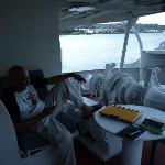 hotel room (on a boat) balcony