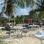 Hotel on the Cay beach front.