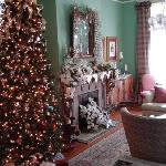 Front parlor decked out for the holidays