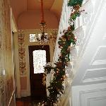 welcoming front hall during holidays