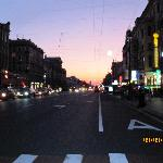 view of Nevsky Prospekt only one block away