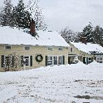 The snowy Tucker Hill Inn on New Year's Day 2010
