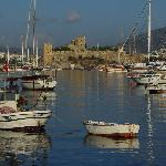 Bodrum Castle and harbor - early morning