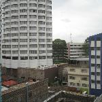 View from my sixth floor room, looking onto Uni of Nairobi. The building being constructed is th
