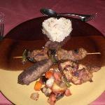 Food at the Oriental restaraunt