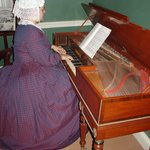 The Governor's Wife (playing her piano from 1810!)