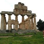 Paestum, or Poseidonia, is an ancient Greek, and later Roman city. It is famous for its Greek te