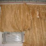 The A/C and Curtains in the Room