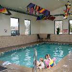 Indoor pool for family fun.
