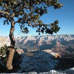 Winter morning on Grand Canyon South Rim