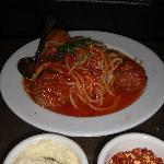 Spaghetti + Meatballs at La Bottega