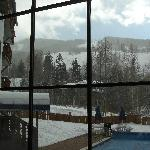 View from the Lobby to the slopes