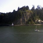 View of the little lighthouse under Stanley Park.