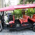 Hotel's free tuktuk to sukumvit
