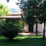 Chalet in garden setting
