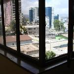 Window looking out to Addis from hallway