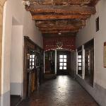 hallway next to tavern to enter hotel