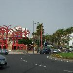The shopping center near the hotel