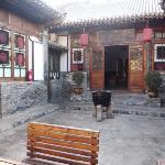 Inner courtyard of Zhengjia Hostel