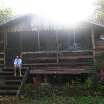 Premier matin dans les marches de ma cabane!