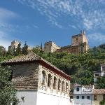 vue de l'alhambra depuis le carmen