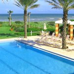 Relax and enjoy Cinnamon Beach ocean front heated pool with cabanas