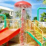 Kids will love water splash zone