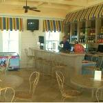 A view of the Cinnamon Beach cafe