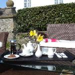 Tea and Cake served in the Garden