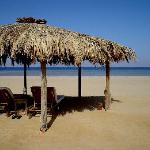 The beach of the Swisscare Nuweiba Resort Hotel - perfect for relaxing, swimming and snorkeling