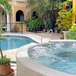 Tropical oasis in the middle of historic downtown